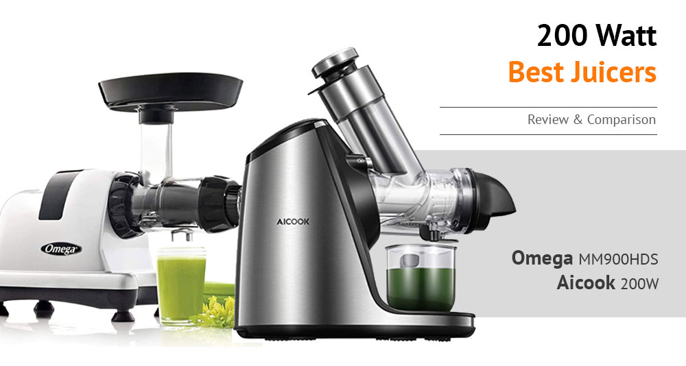 Omega MM900HDS vs Aicook 200W Juicer Review - Keeping Up the Natural Nutrients from Fruits and Vegetables