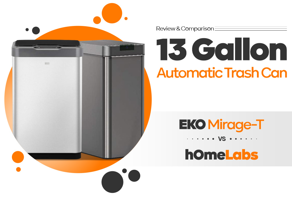 13 Gallon Automatic Trash Can - EKO Mirage-T vs hOmeLabs