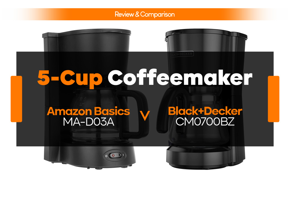 5-Cup Coffeemaker - Amazon Basics MA-D03A vs Black+Decker CM0700BZ